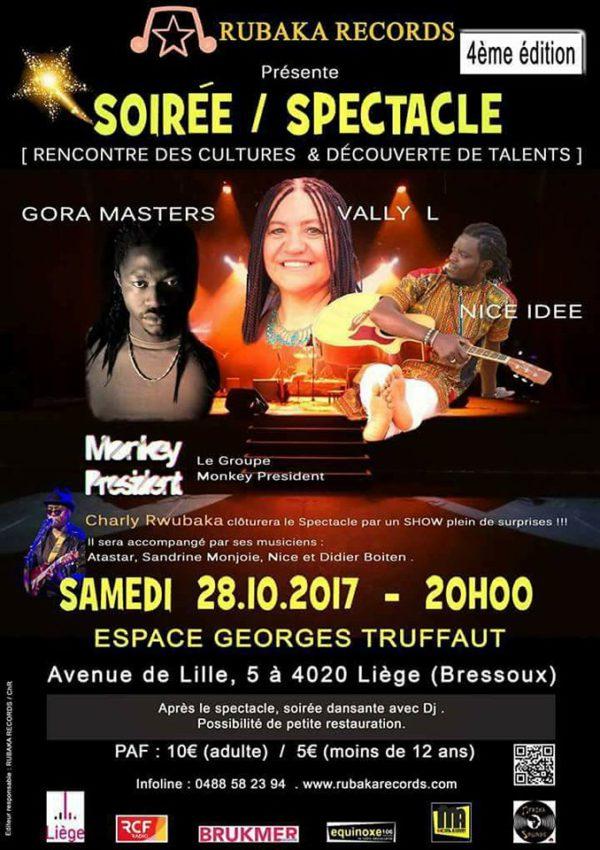 Charly Rwubaka, Gora master, Nice Idee,Vally L et Monkey Président en concert à Liège @ Espace george truffaut   Liège   Wallonie   Belgique
