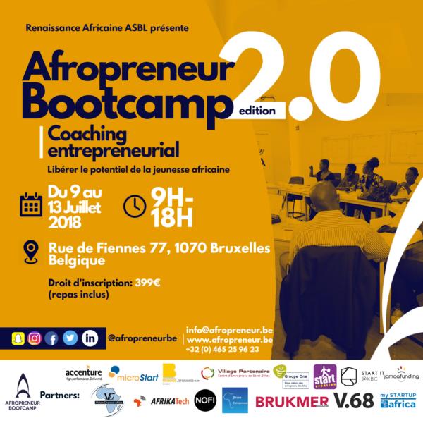 Afropreneur Bootcamp 2018 @ Microstart | Anderlecht | Bruxelles | Belgique